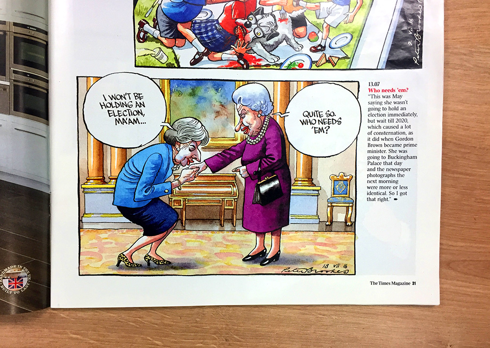 Peter Brookes The Times Magazine