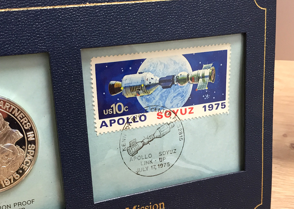 Washing Up Rota Award - Apollo Soyuz 1975 Commemorative Coin and Stamp